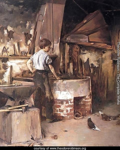 The Forge (or An Apprentice Blacksmith)
