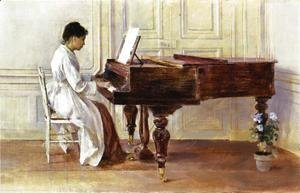 Theodore Robinson - At the Piano, 1887