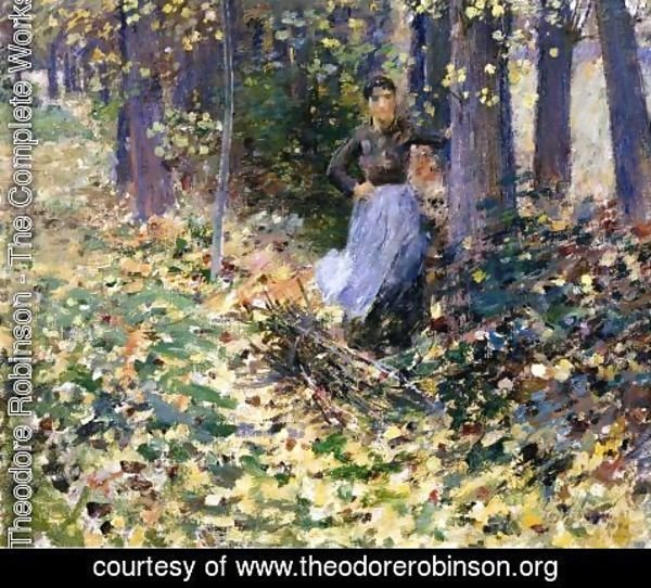 Theodore Robinson - Autumn Sunlight (In the Woods) 1888