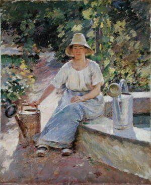 Theodore Robinson - The Watering Pots, 1890