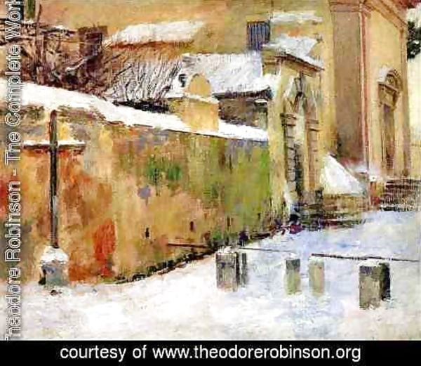 Theodore Robinson - Church in Snow