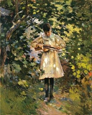 Theodore Robinson - The Young Violinist