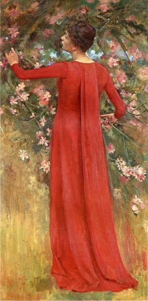 Theodore Robinson - The Red Gown