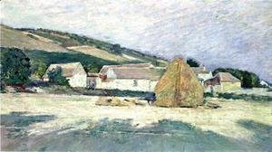 Theodore Robinson - A Farm House in Giverny