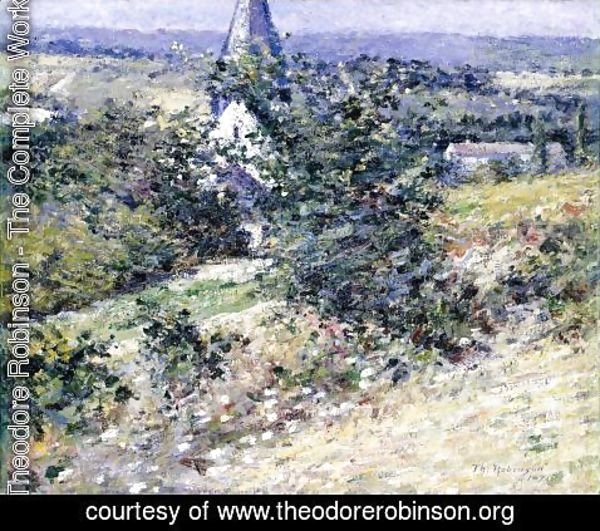 Theodore Robinson - Old Church at Giverny