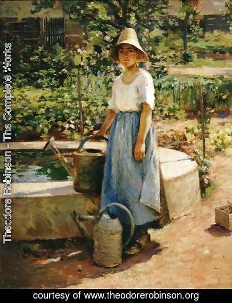 Theodore Robinson - At the Fountain