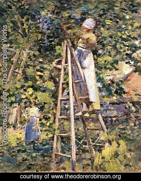 Theodore Robinson - Gathering Plums