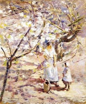 Theodore Robinson - In the Orchard II