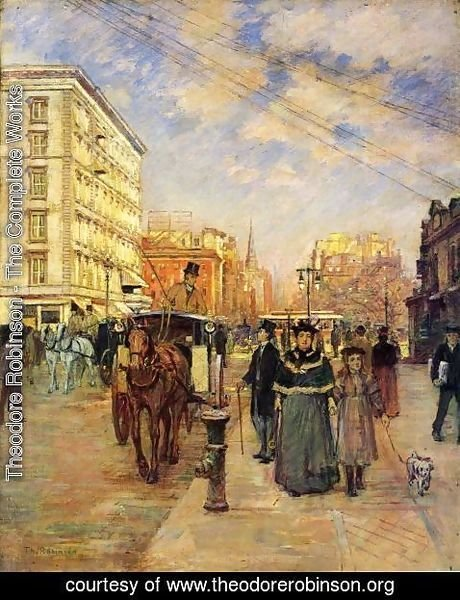 Theodore Robinson - Fifth Avenue at Madison Square