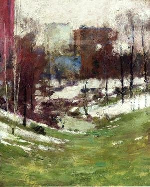 Theodore Robinson - Winter in New York City