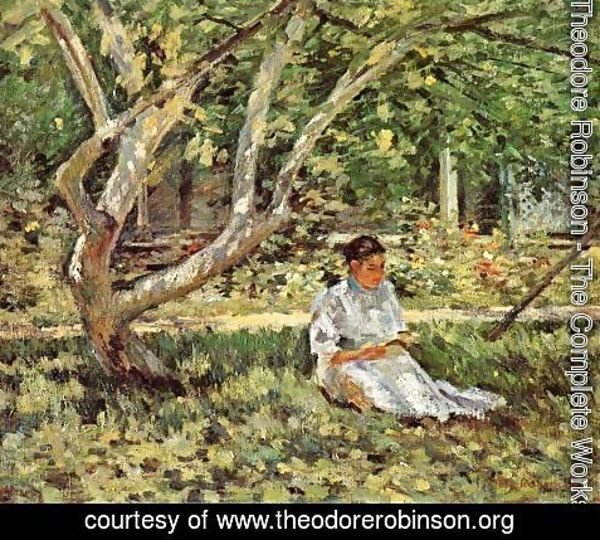 Theodore Robinson - Nettie Reading
