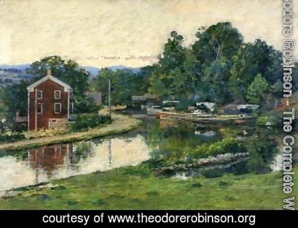 Theodore Robinson - Evening at the Lock