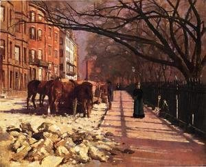 Theodore Robinson - Beacon Street, Boston