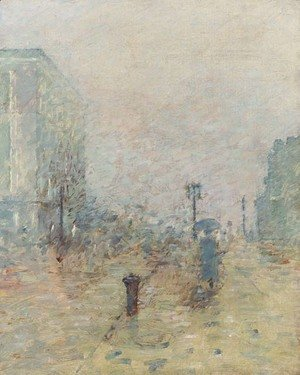 Theodore Robinson - A Rainy Day, New York