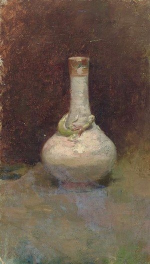 A Vase with a Lizard and Other Oil Sketches Twenty Five Works