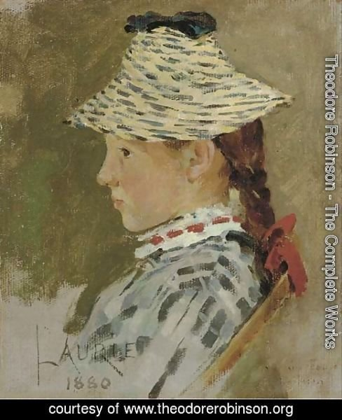 Theodore Robinson - Portrait of Laurie
