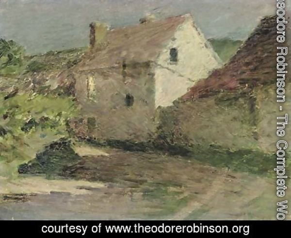 Theodore Robinson - Moonlit Farmhouse