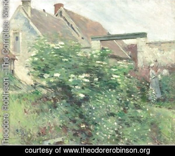 Theodore Robinson - Garden At Giverny
