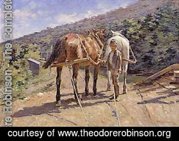 Theodore Robinson - On the tow-path