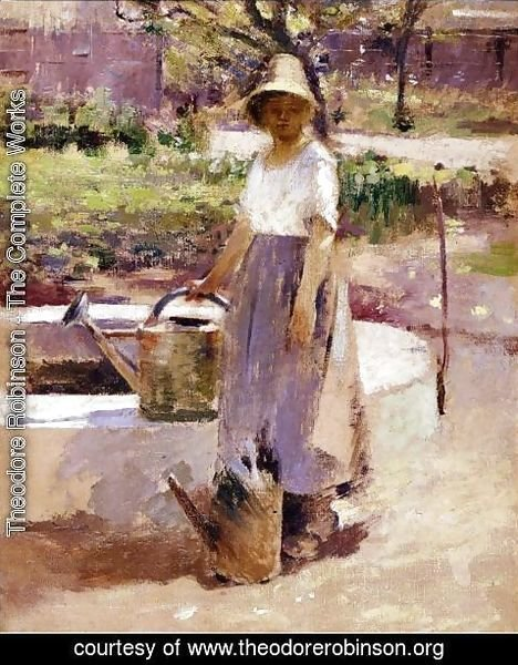 Theodore Robinson - At The Fountain2