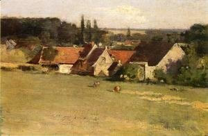 Theodore Robinson - Farmhouse At Grez