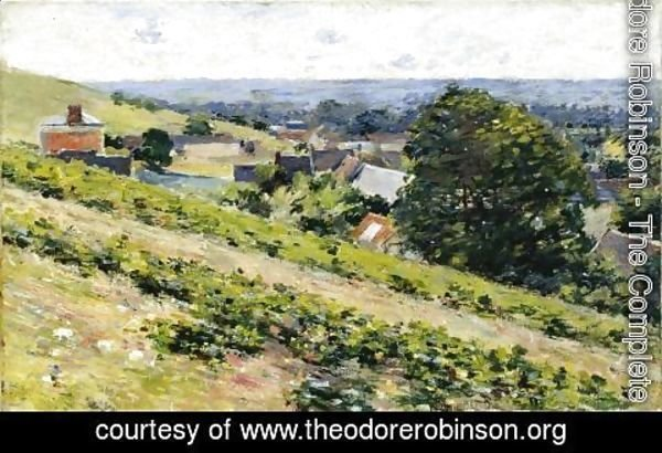 Theodore Robinson - From The Hill  Giverny