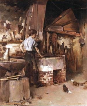 Theodore Robinson - The Apprentice Blacksmith