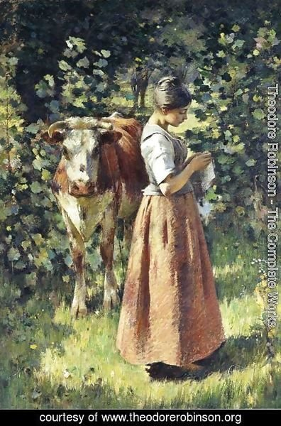 Theodore Robinson - The Cowherd