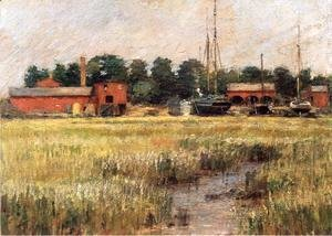 Theodore Robinson - The Ship Yard