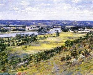 Theodore Robinson - Valley Of The Seine From Giverny Heights