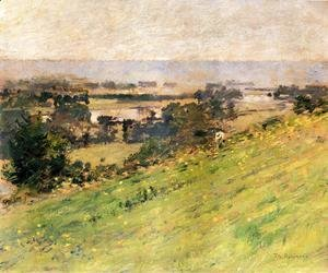 Theodore Robinson - View Of The Seine