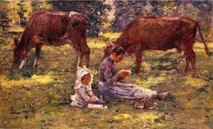 Theodore Robinson - Watching The Cows