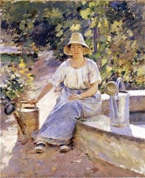 Theodore Robinson - Watering Pots